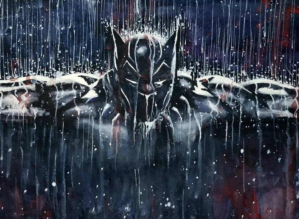 Image of Black Panther matte print