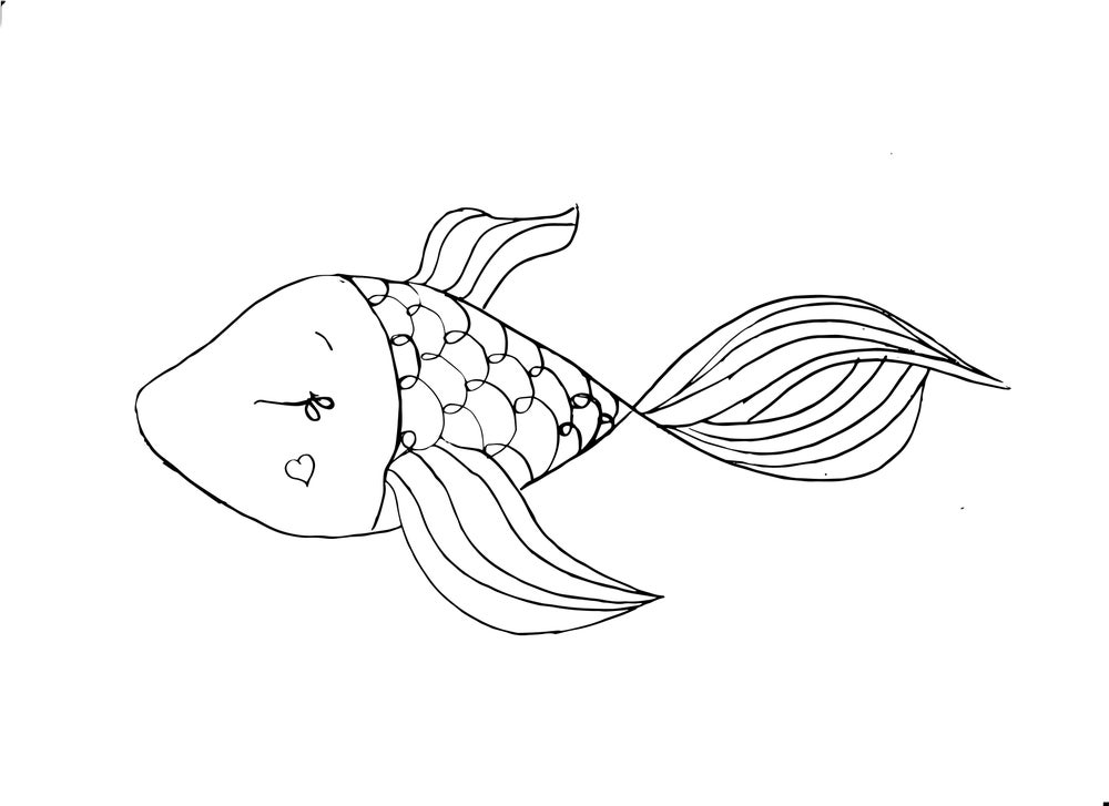 Image of Coloriage poisson d'avril offert