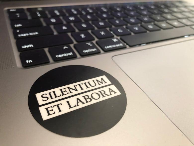 Image of Silentium et Labora Sticker
