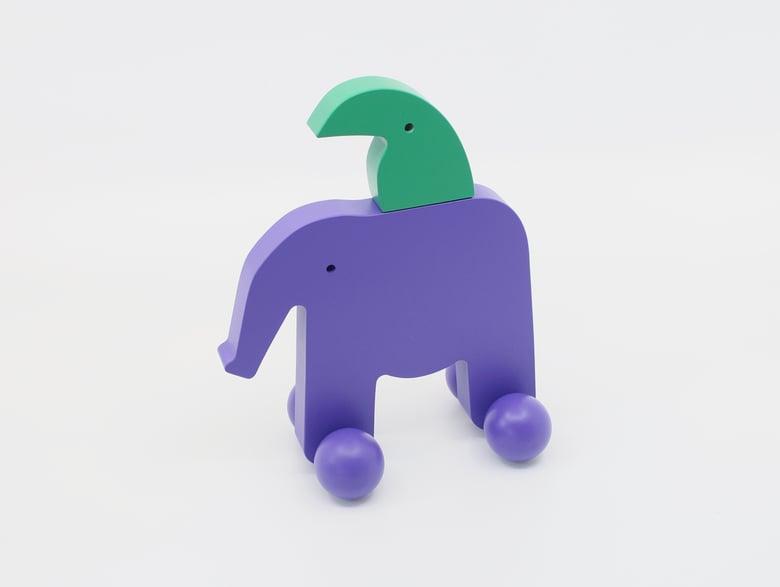 Image of Schiebetier Elefant und Tukan