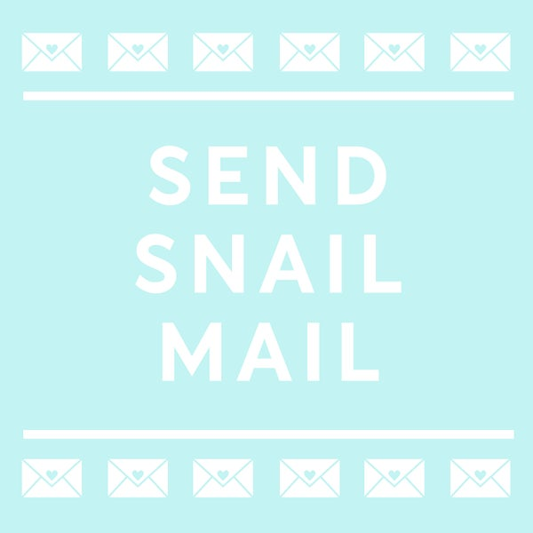 Image of send snail mail - we'll send a letter for you