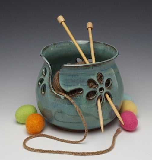 Image of Yarn Bowl for Your Wool - Glacial Waters (Aqua)