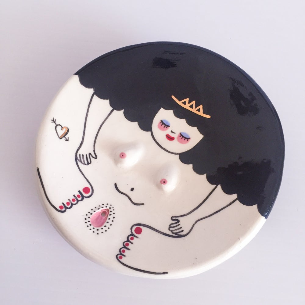 Image of Small Roundie Trinket Plate / Incense Holder.