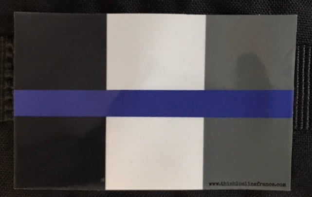 Image of Autocollant Drapeau Thin blue Line France