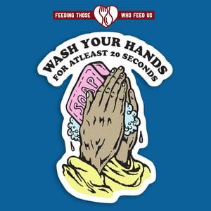 """""""Wash your hands"""" - 4"""" Sticker"""