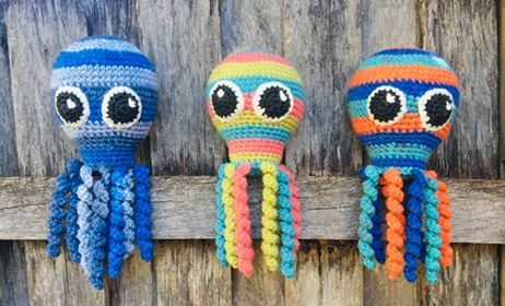 Image of Retro Nanna Calamari the Octopus Pattern (only)