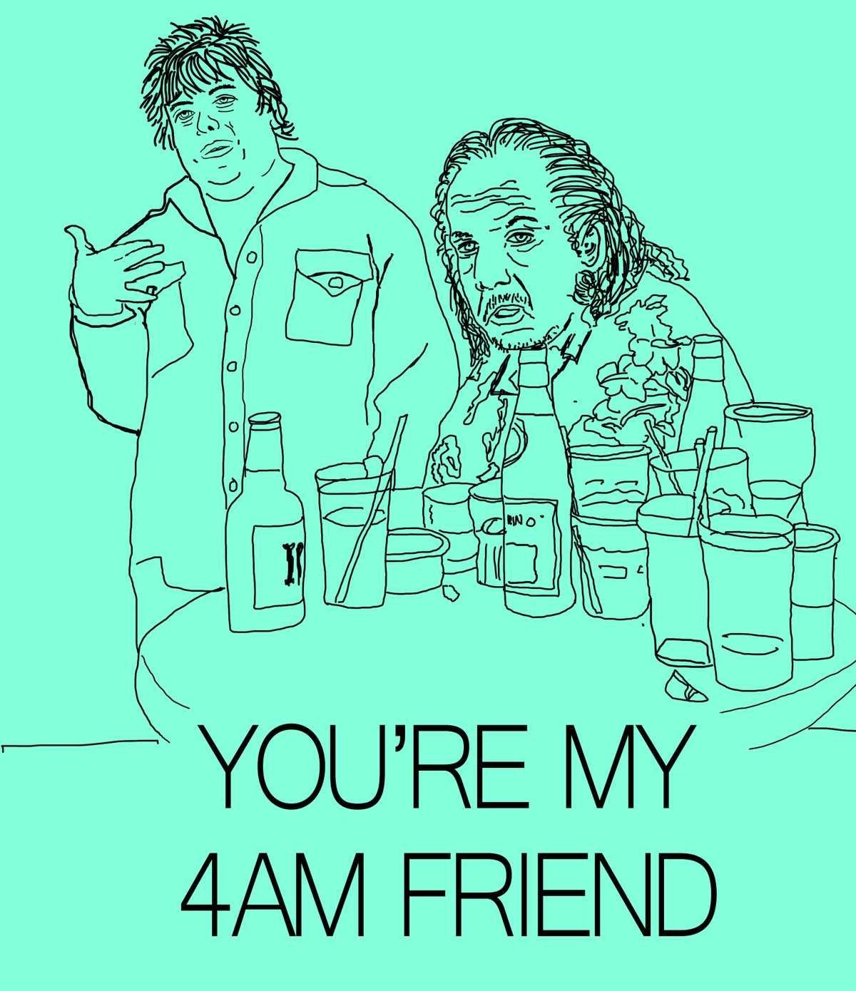 Image of 4AM Friend Card