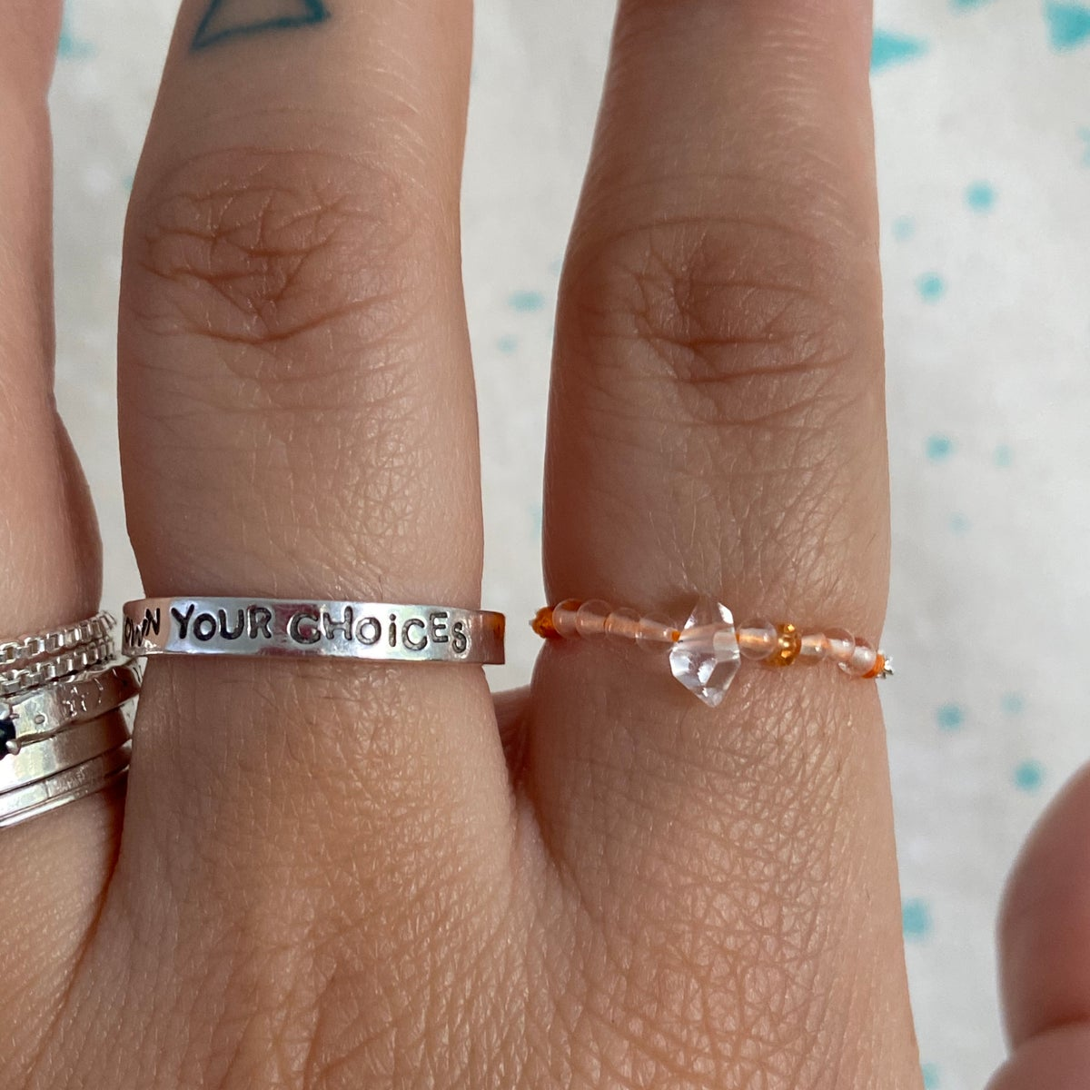 Image of Herkimer diamond ring