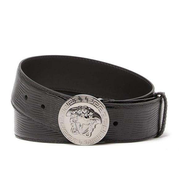 Image of NWT VERSACE Medusa Head Medallion Leather Belt