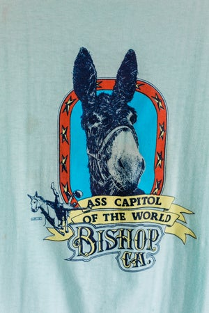 Image of Vintage 1980s 'Ass Capital of the World' - Bishop California Tee