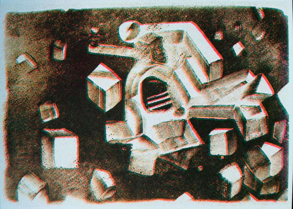 """Image of Risoprint """"Das Ungetüm""""/'the monster'"""