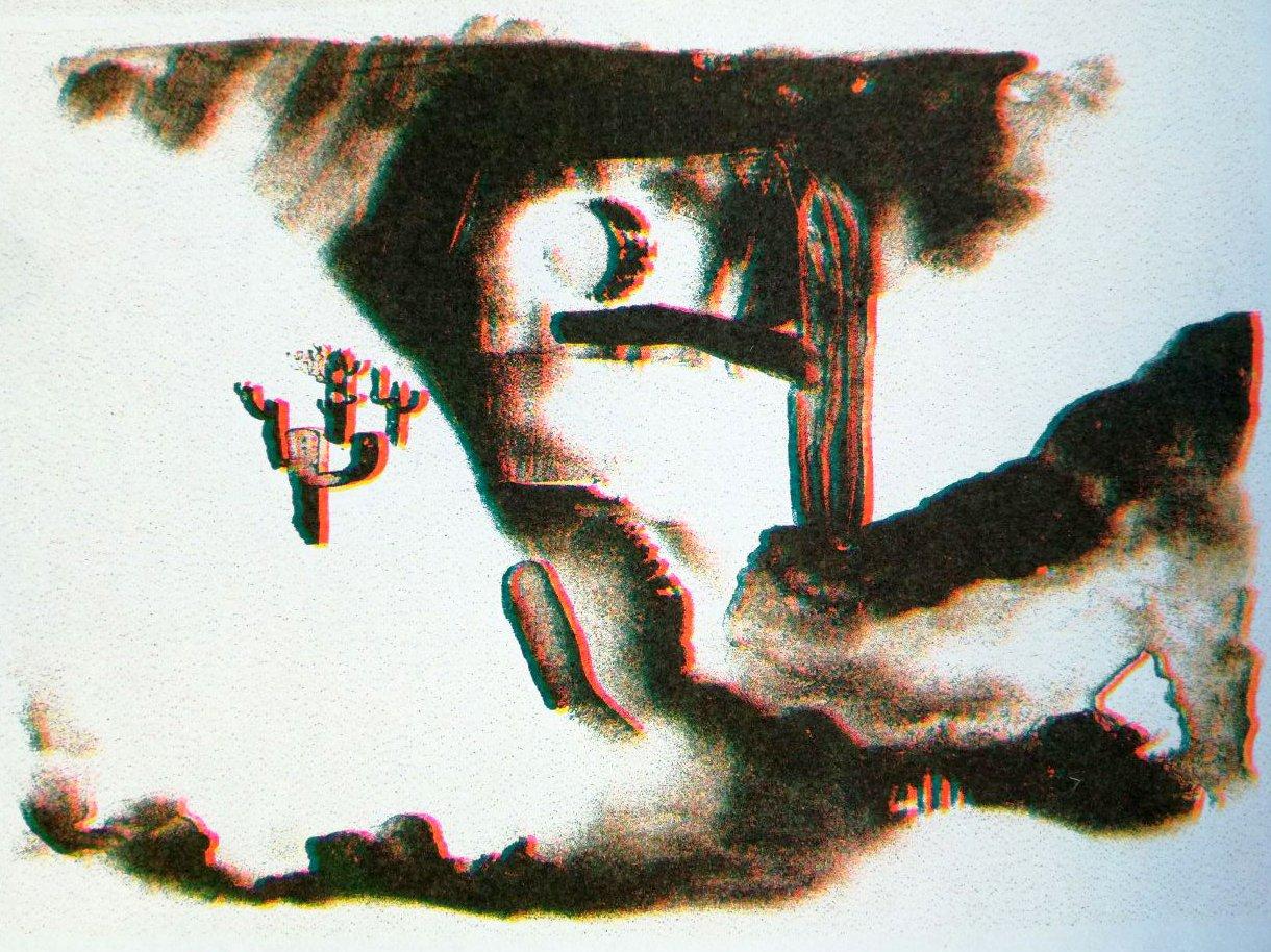 "Image of Riso print ""deserts"""