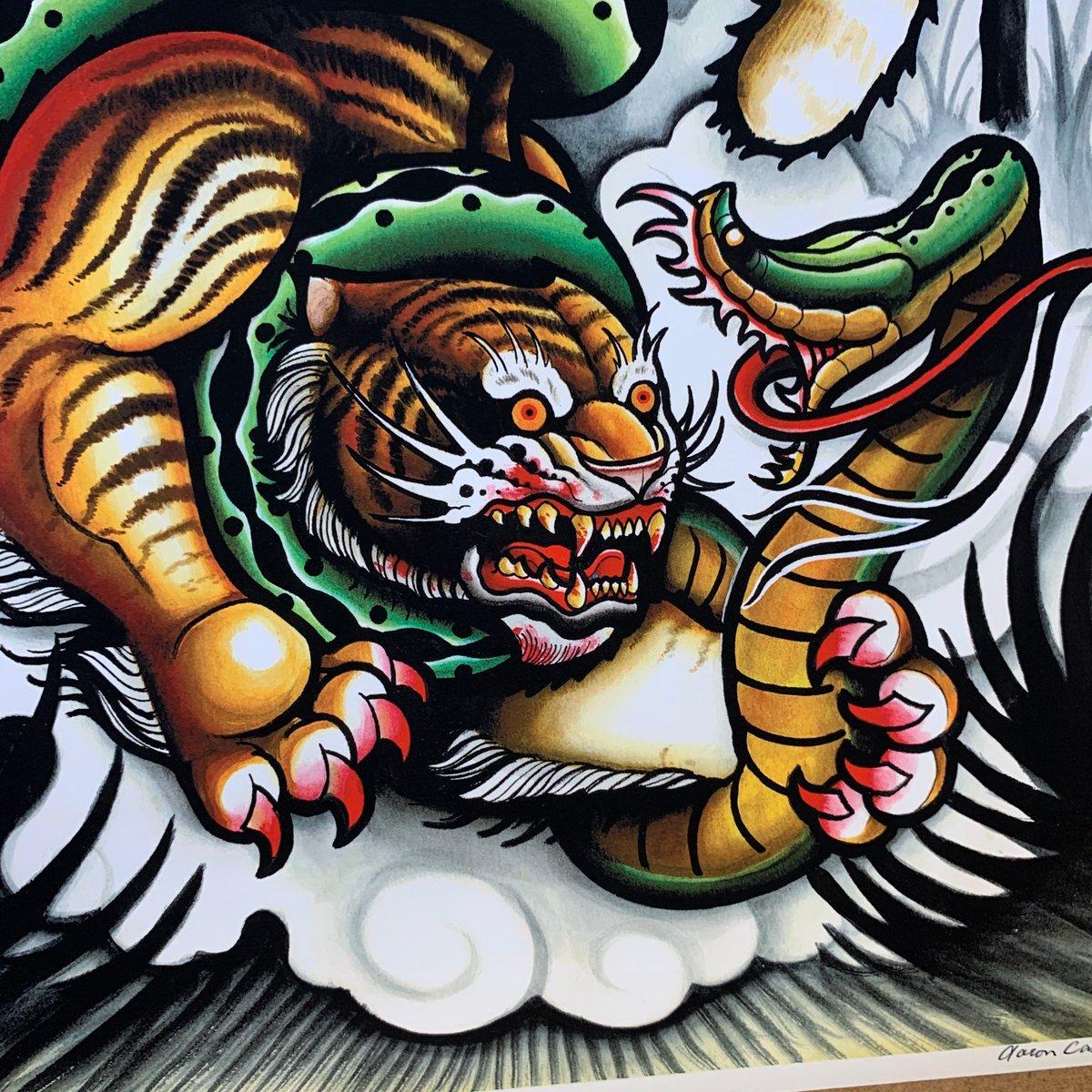 Tiger VS Snake Print