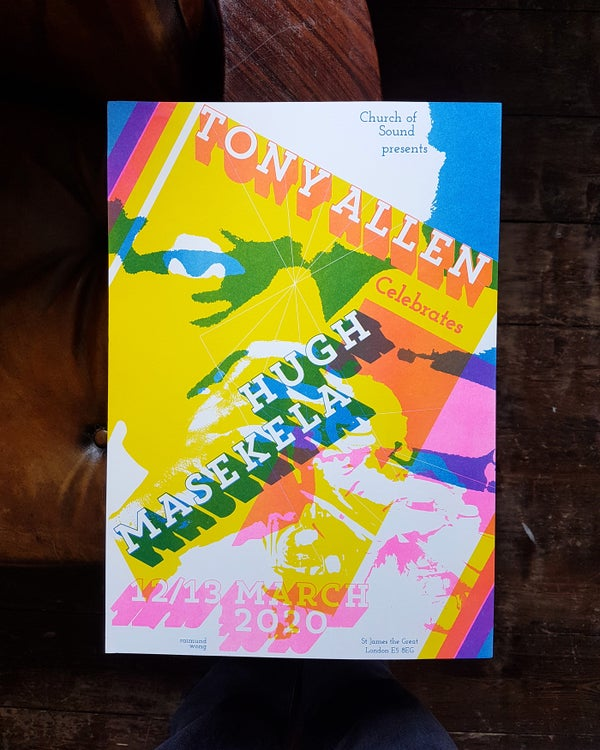 Image of Tony Allen Risographs - Celebrates Hugh Masekela at Church of Sound