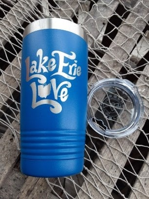 "Image of ""Lake Erie Love"" insulated Tumbler- Northern Exposure- IK"