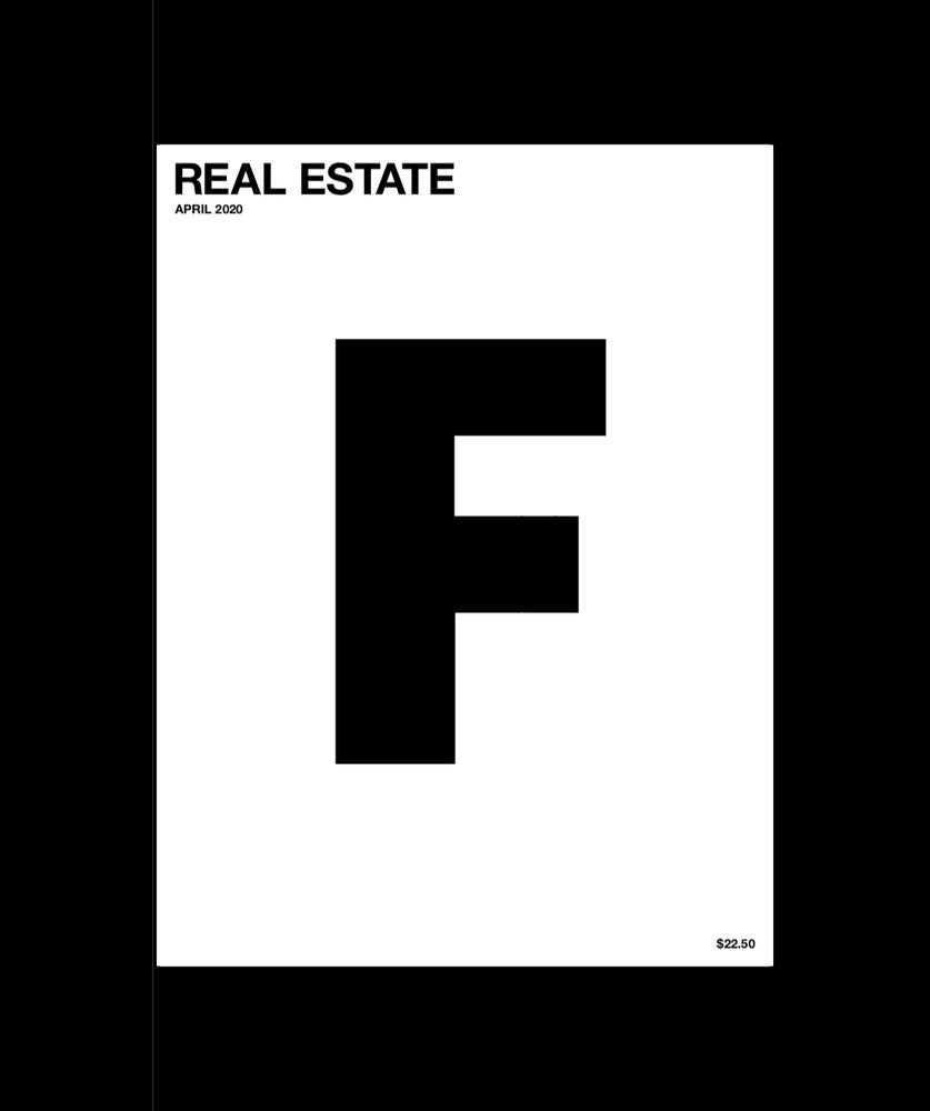 Image of F issue 10: REAL ESTATE