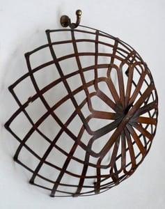 Image of Copper lattice basket