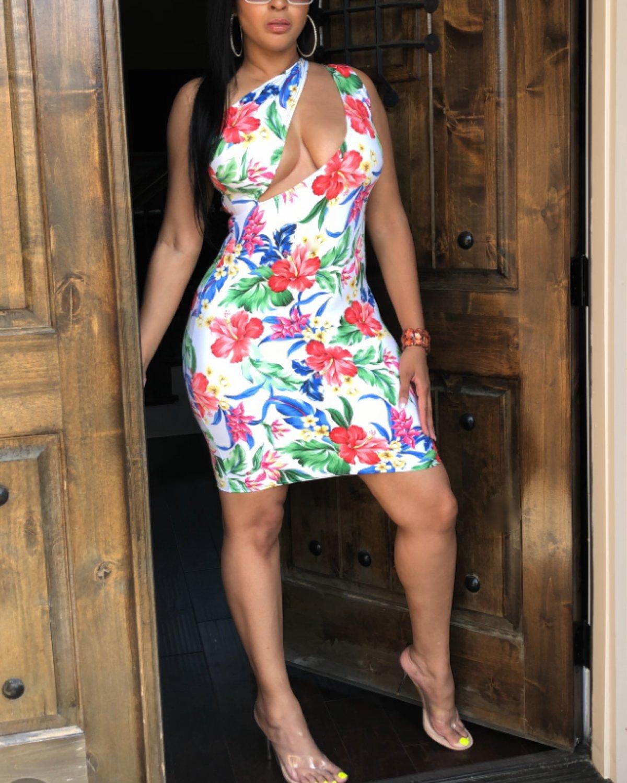 Floral Slasher dress