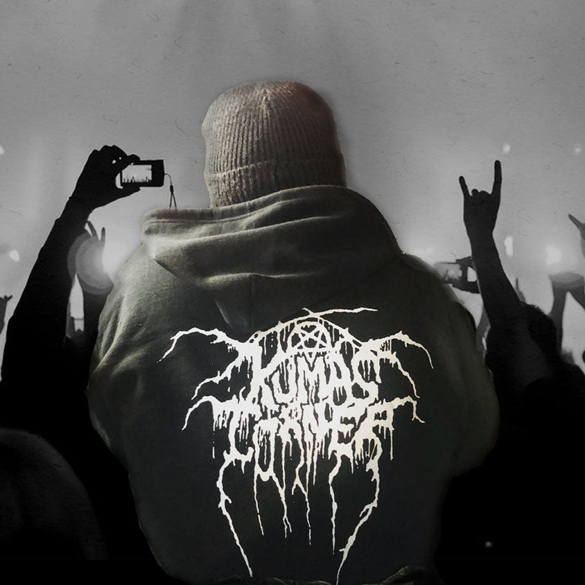 Black Metal zip up Hoodie