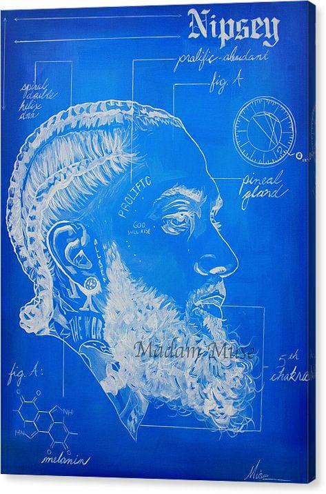 "Image of ""Prolific Prototype"" Blueprint Original Painting"