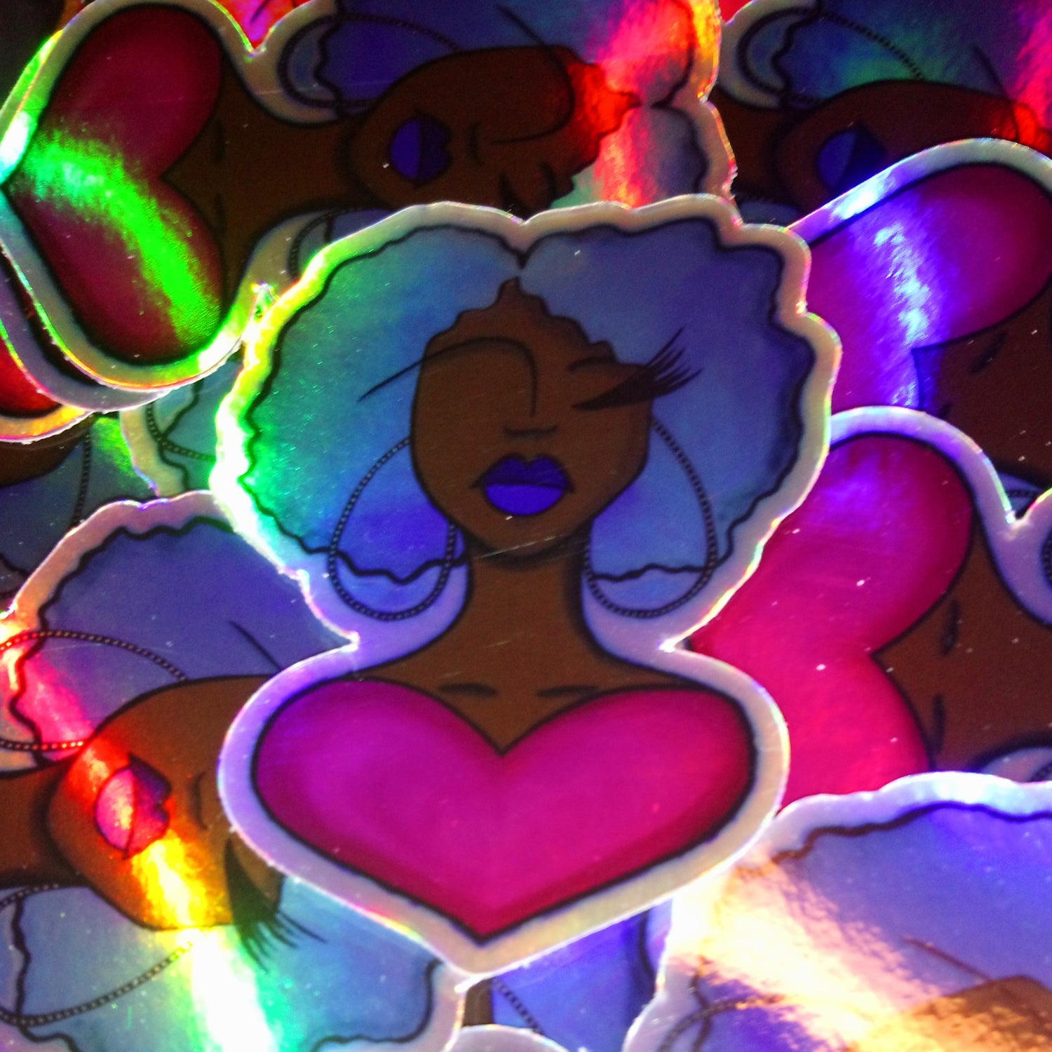 Image of Love(d) One | Holographic Sticker