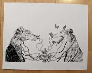 "Image of ""Nikko and Miles"" Original Illustration"