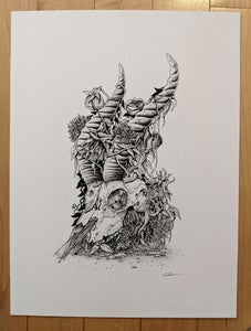 "Image of ""Bones"" Original Illustration"
