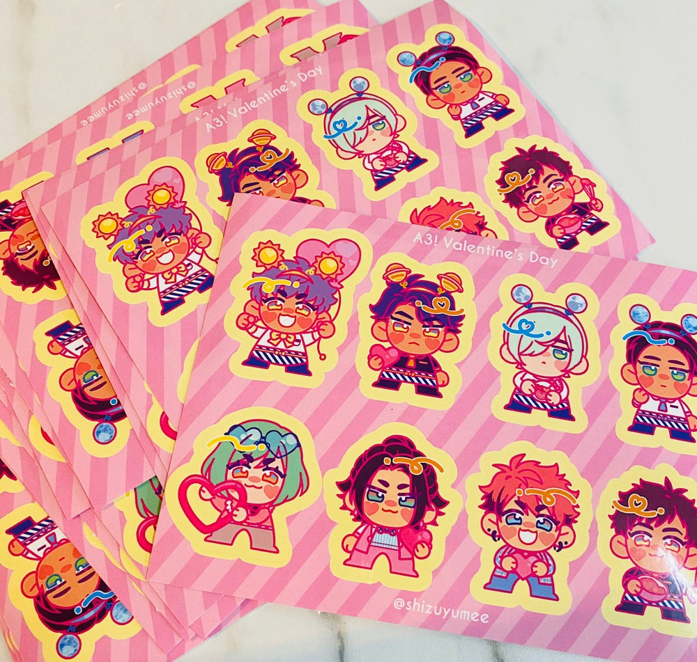 Image of A3 STICKERS SHEET