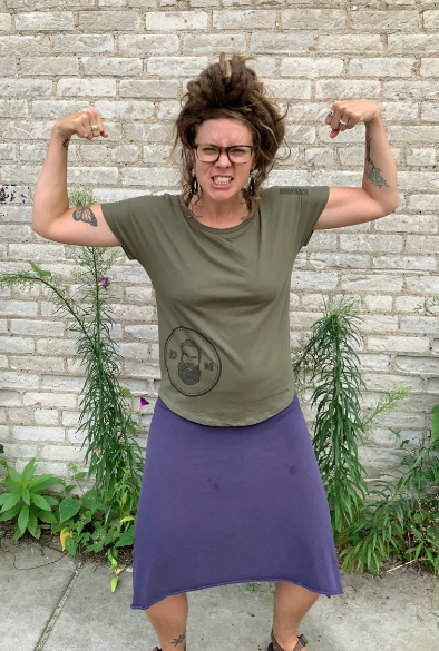 Image of Army Green Women's Tee