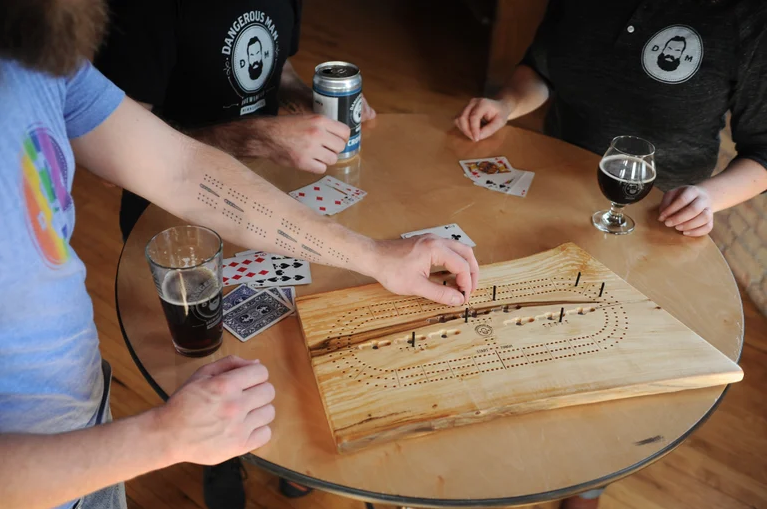 Image of Reclaimed Wooden Cribbage Board