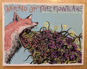 Image of Queens of the Stone Age in Eugene, OR Poster