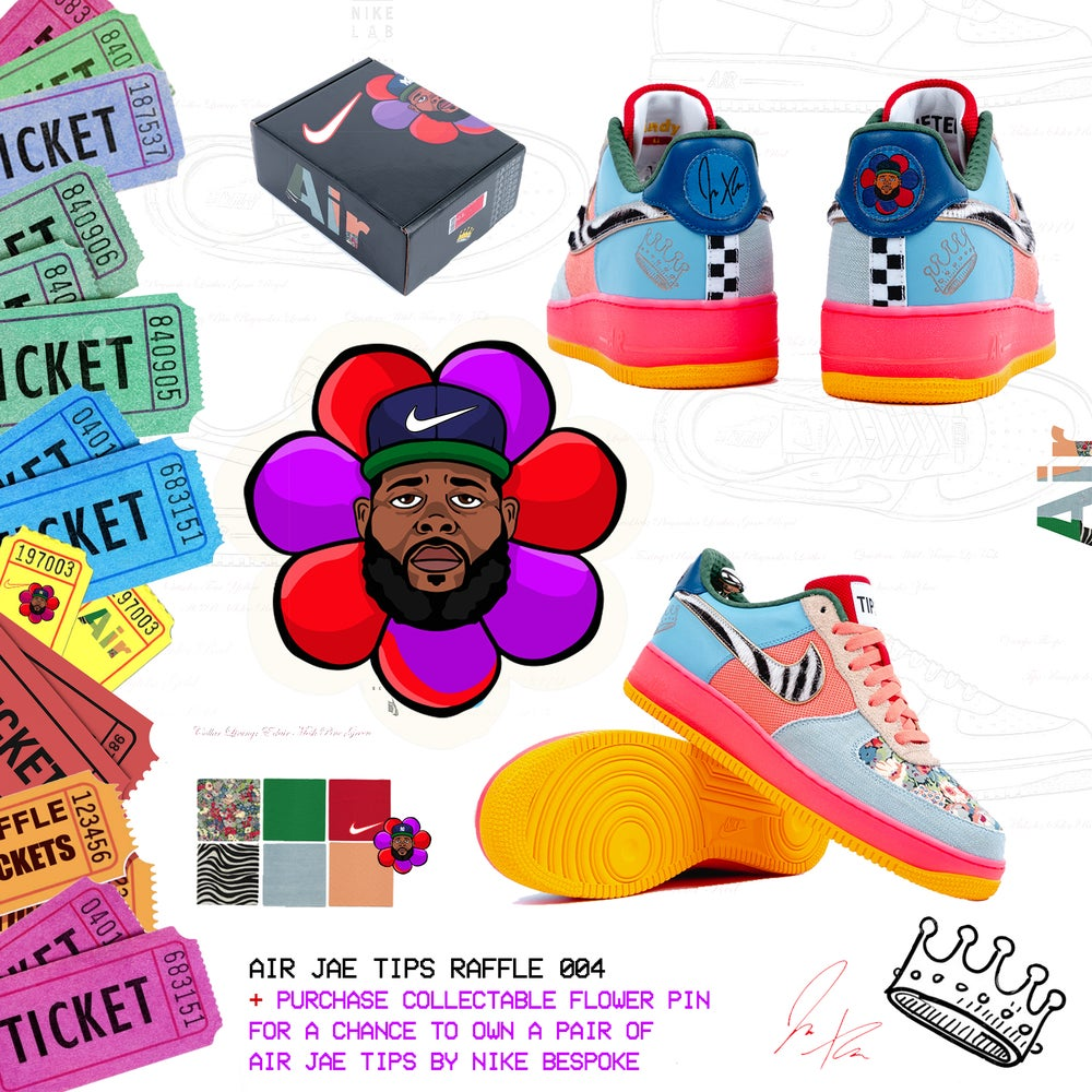 Image of AIR JAE TIPS Raffle + Flower Pin
