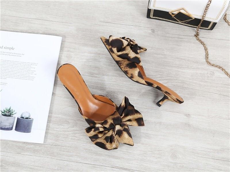 3 inch leopard print heels
