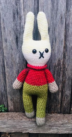 Image of Retro Bunny Pattern (only)