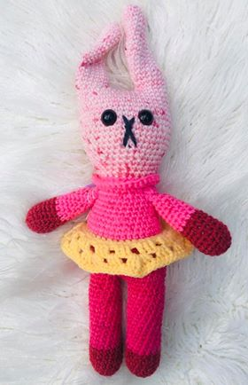 Image of Retro Nanna Yarn Kits for the Girl Bunny