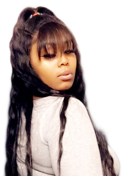 Image of Virgin Brazilian Frontal Bob Wig/Chinx Bang