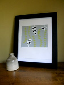 Image of Vines Silk Screen Print