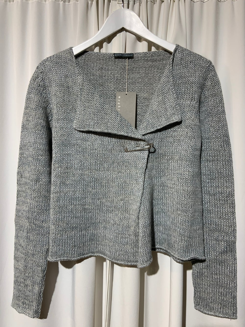 Image of NYGARDSANNA Wrap Cardigan grey blue