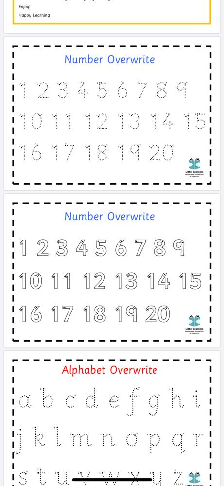 Image of Alphabet & Number PDF Downloadable