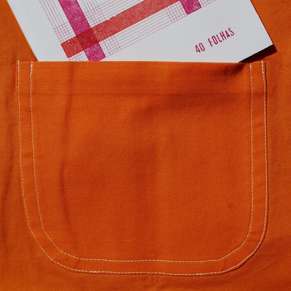 Image of Reversible Children Pocket Pinafore - orange