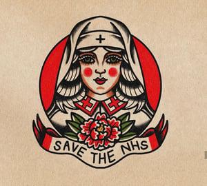 Image of Save the NHS print