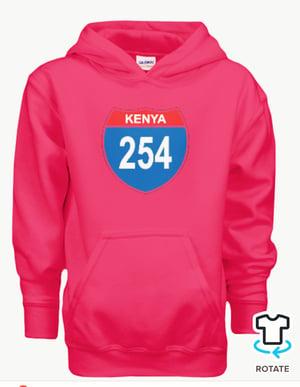 Image of 254 kenya pink hoodie