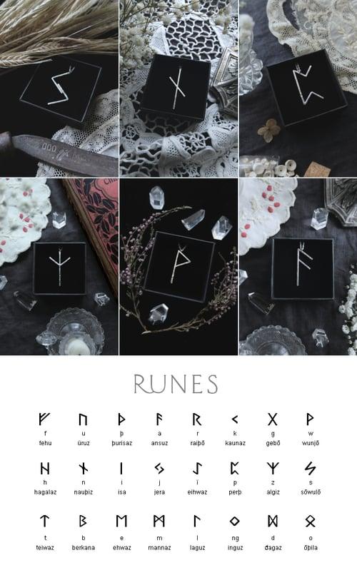 Image of VÖRDR. RUNE TALISMAN ↟ sterling silver - any rune: Algiz, Othala, Ansuz, Fehu, Dagaz, Thurisaz...