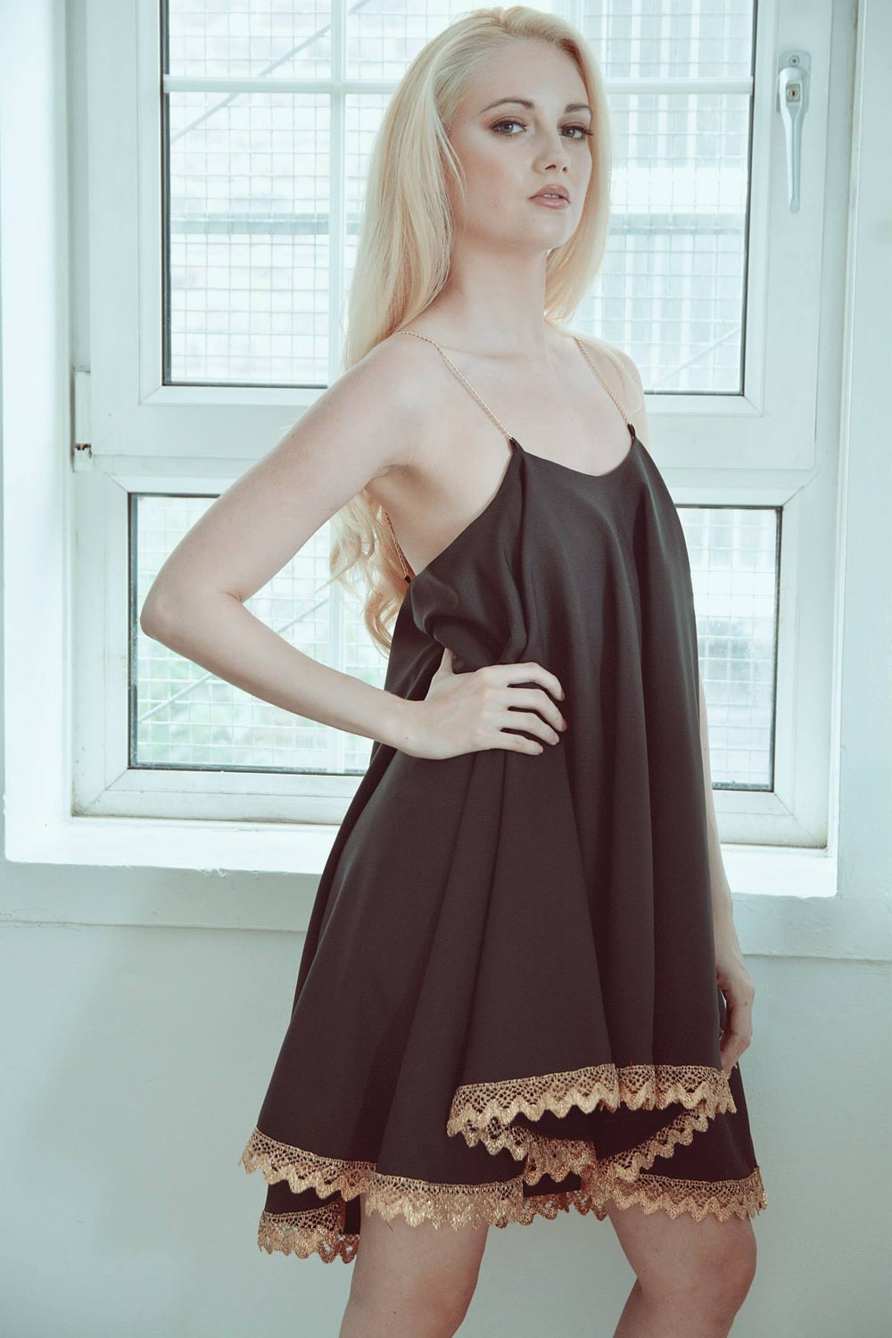 Image of Swing Dress - Black