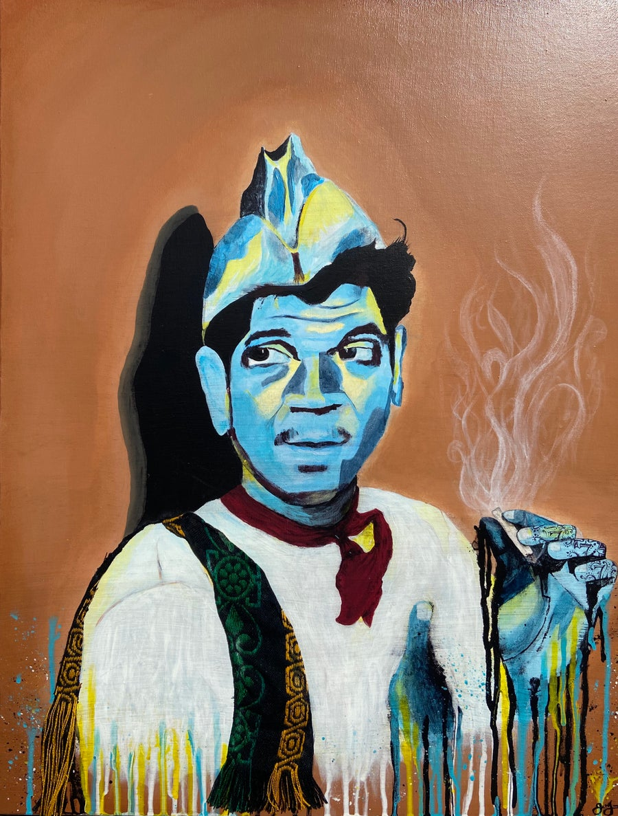 "Image of Cantinflas - ""Un cigarrito"" (Original) $400.00"