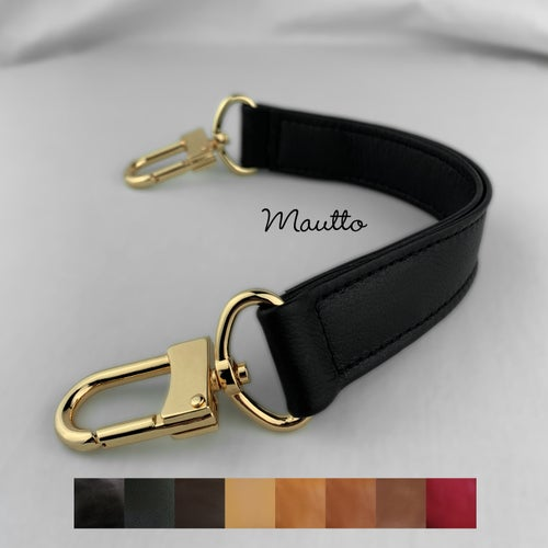 "Image of Leather Top Handle for LV Neo Noe - 1"" Wide - #16XLG U-shaped Clips - Choose Leather Color & Finish"