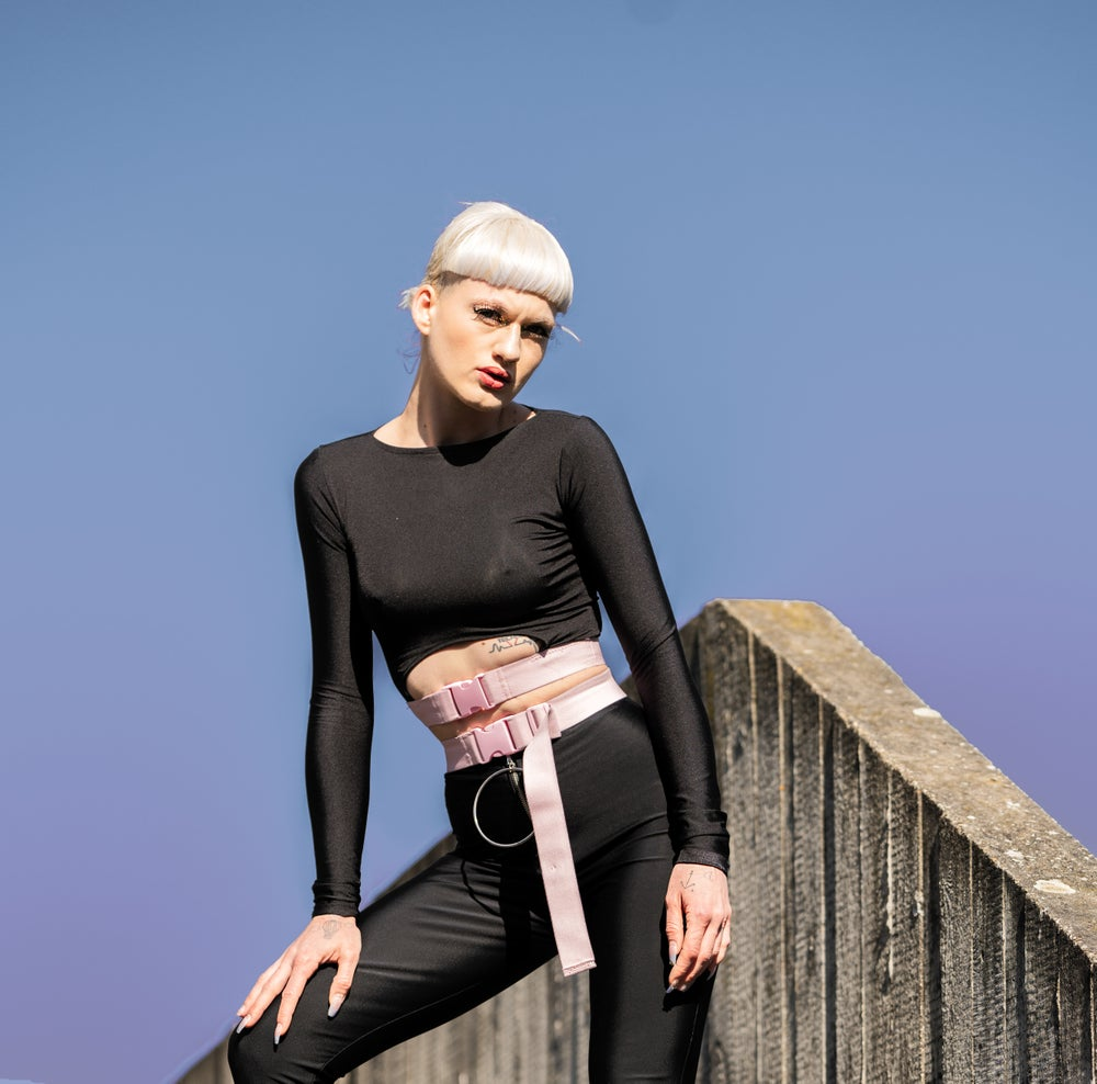 Image of Cut-Out Longsleeve Top