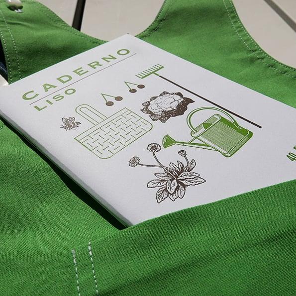 Image of Reversible Children Pocket Pinafore - green