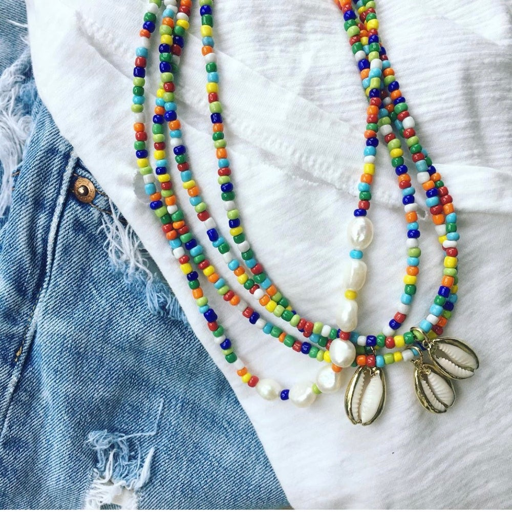 Image of TenThings. RAINBOW. Beaded. Necklace. N-RAINBOW