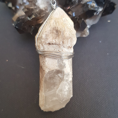 Image of Scepter Quartz Wire-Wrapped Necklace